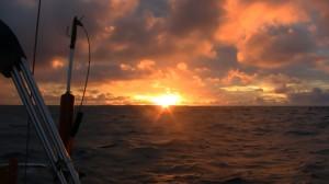 Premier coucher de soleil après la tempête