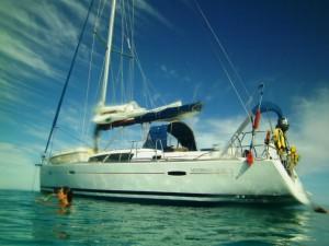 Le bateau vu de l'eau